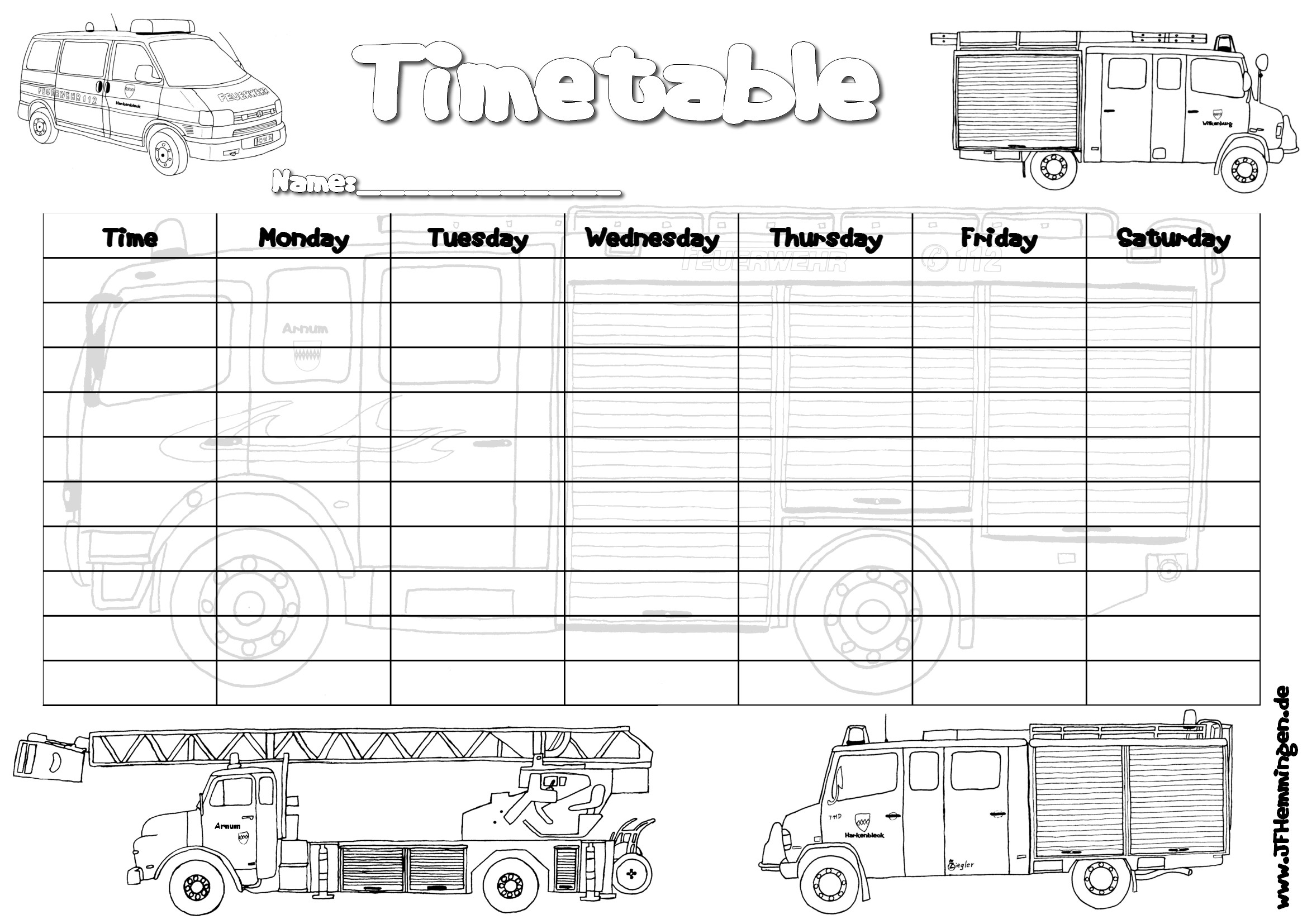 how to prepare a study timetable for year 7