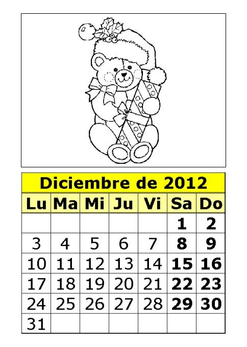 calendario-diciembre-2012-dibujos-para-colorear-ositos ...