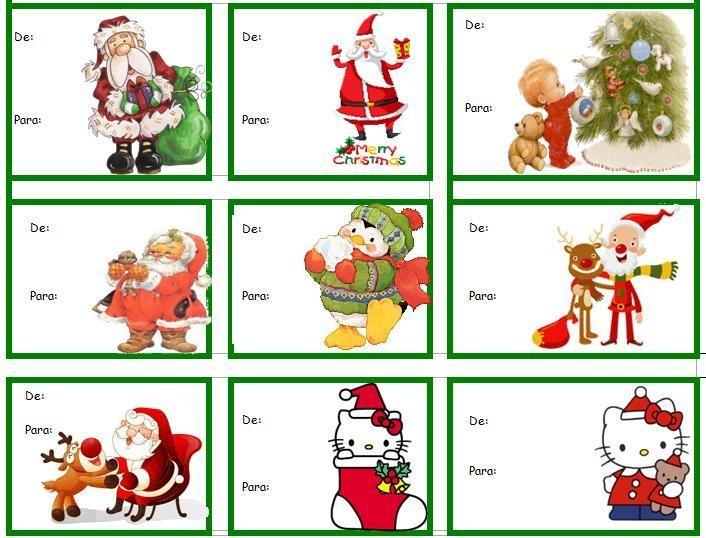 Etiquetas para los regalos christmas gift tags for In regalo gratis