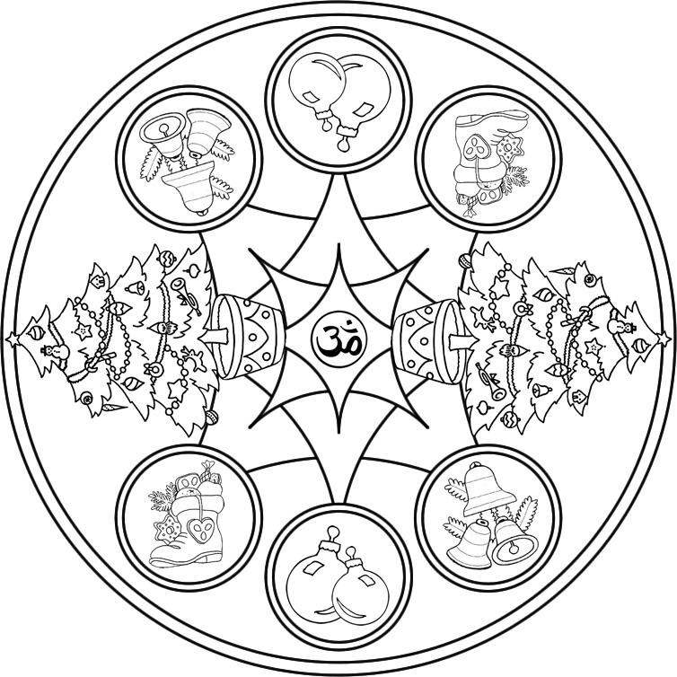 Mandalas de navidad laclasedeptdemontse for Arbol navideno para colorear
