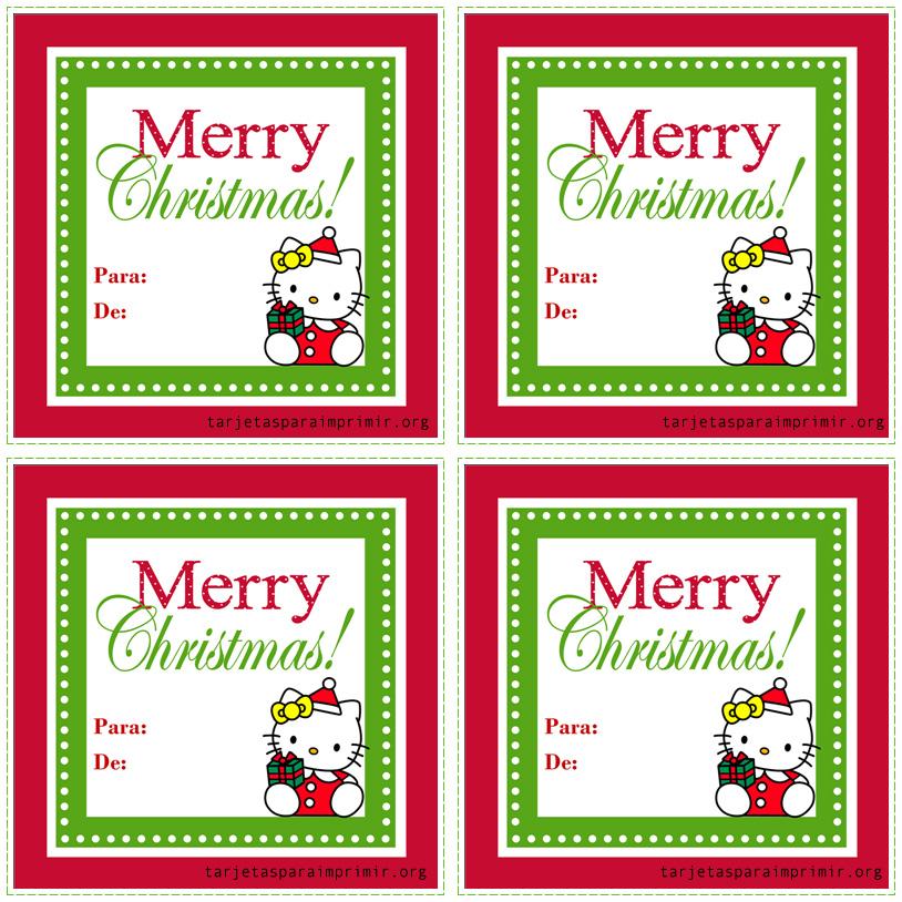 Tarjetas de navidad con hello kitty para imprimir - Dibujos de postales de navidad ...