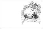 Tarjetas de Navidad para imprimir y colorear 3