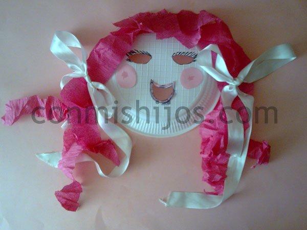 M scaras con platos de papel laclasedeptdemontse - Mascaras para carnaval manualidades ...