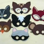 Dressing-Up-woodland-felt-mask-set