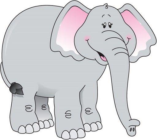 Elefante Dibujo A Colores