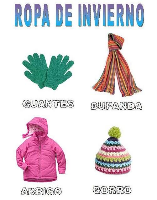 Prendas de vestir de invierno en ingles imagui - Proyecto el invierno ...