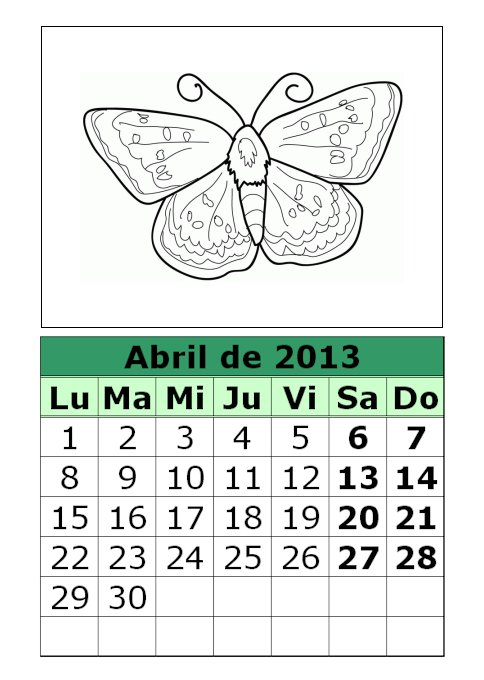 calendario-abril-2013-dibujos-para-colorear-animales ...