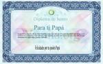 Diploma de honor para ti papá