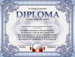 Diploma para el dia del padre o fin de cursos