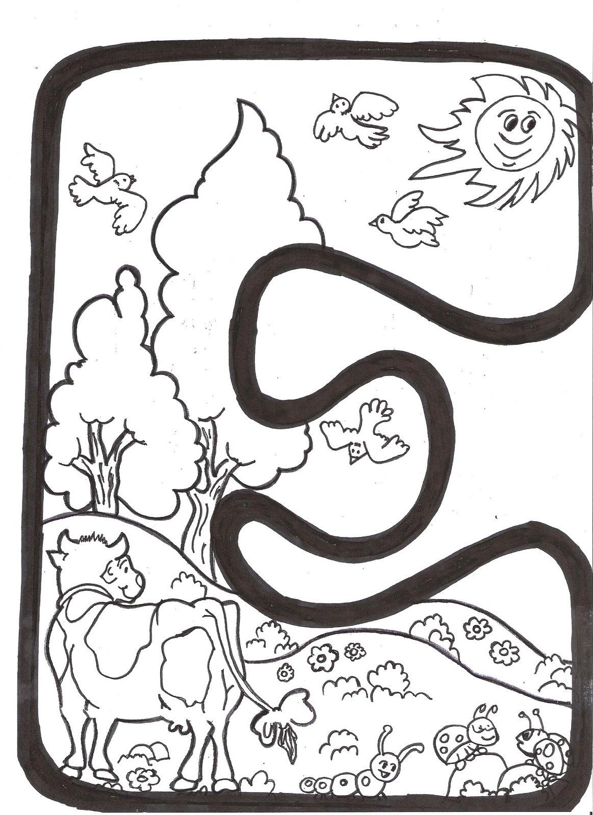 Letras bonitas para imprimir y colorear - Imagui