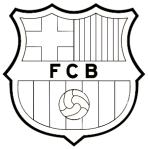 escudo del barcelona para colorear