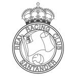 escudo racing santander para colorear