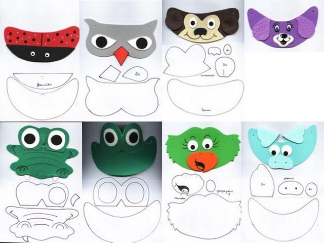 Imagenes de gorra de animales en foami y patrones - Imagui