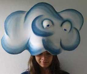 Viseras gorros para tus disfraces laclasedeptdemontse - Como hacer una nube ...
