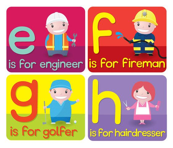 Abecedario de oficios en inglés – English alphabet jobs
