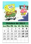 calendario-octubre-2013-Bob-Esponja