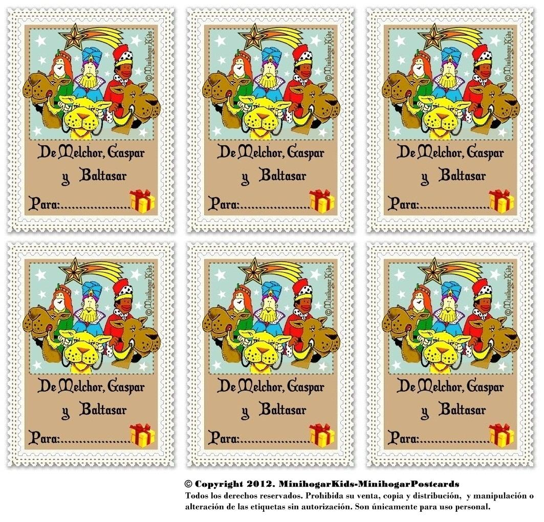 6 etiqueta reyes magos laclasedeptdemontse - Etiquetas para regalos para imprimir ...