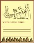 Papel carta reyes magos