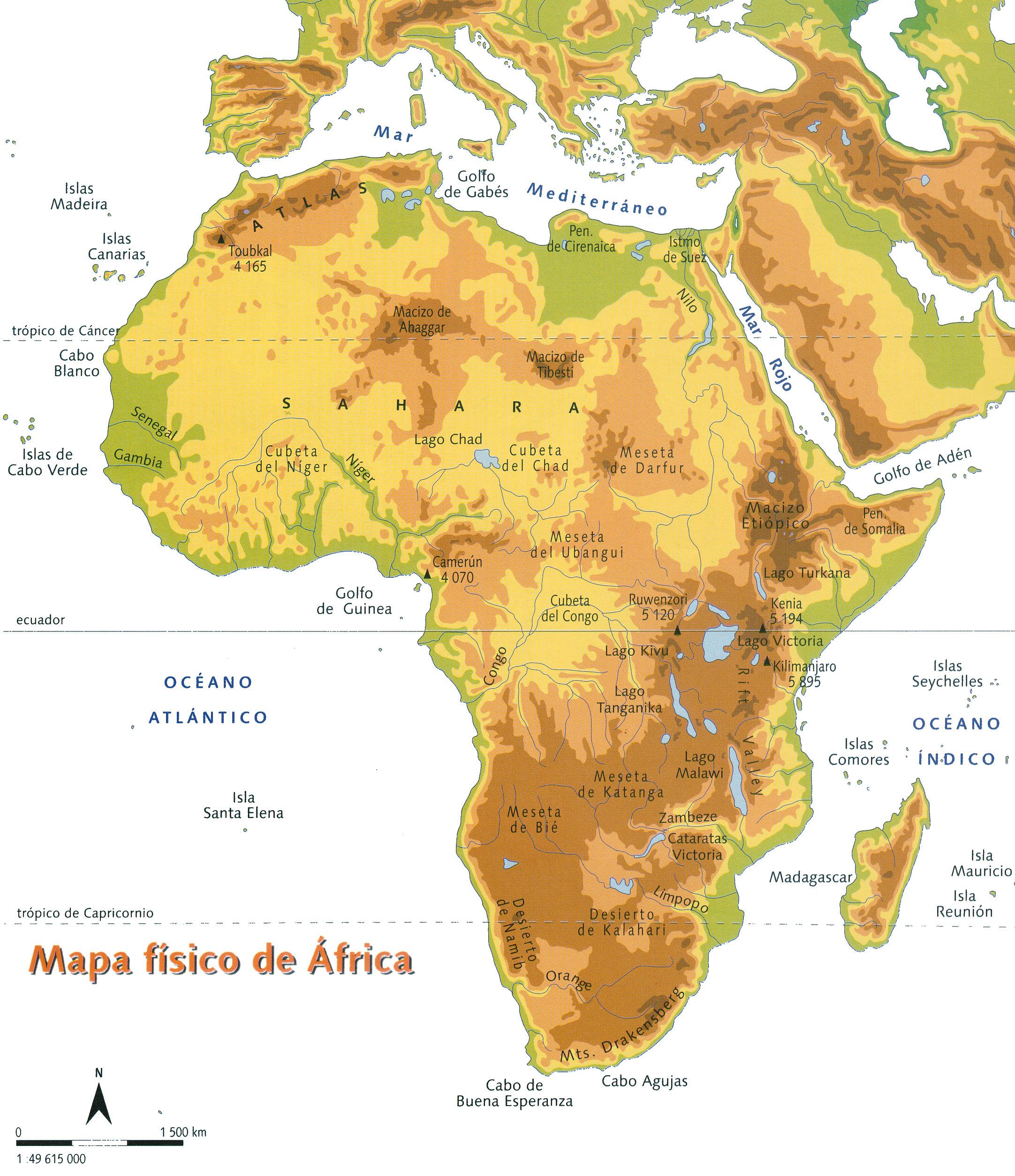 Mapas De áfrica Para Imprimir Laclasedeptdemontse