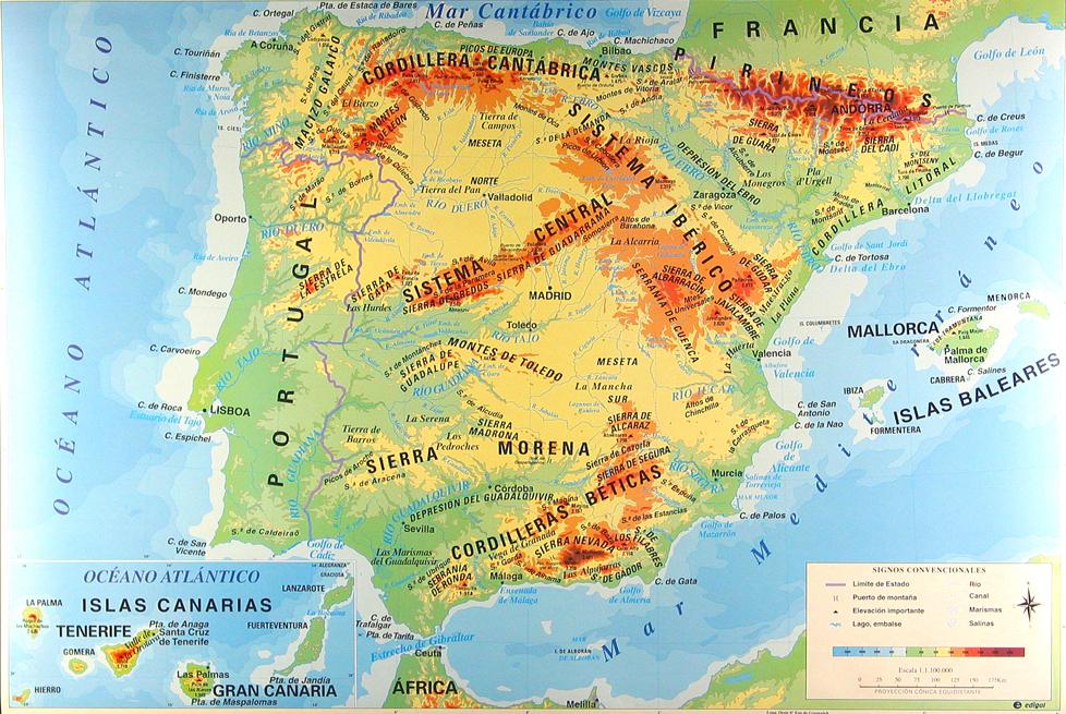 Mapas de España para imprimir | laclasedeptdemontse