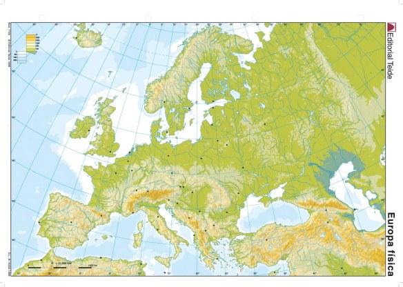 Resultado de imagen de mapa mudo físico imprimir