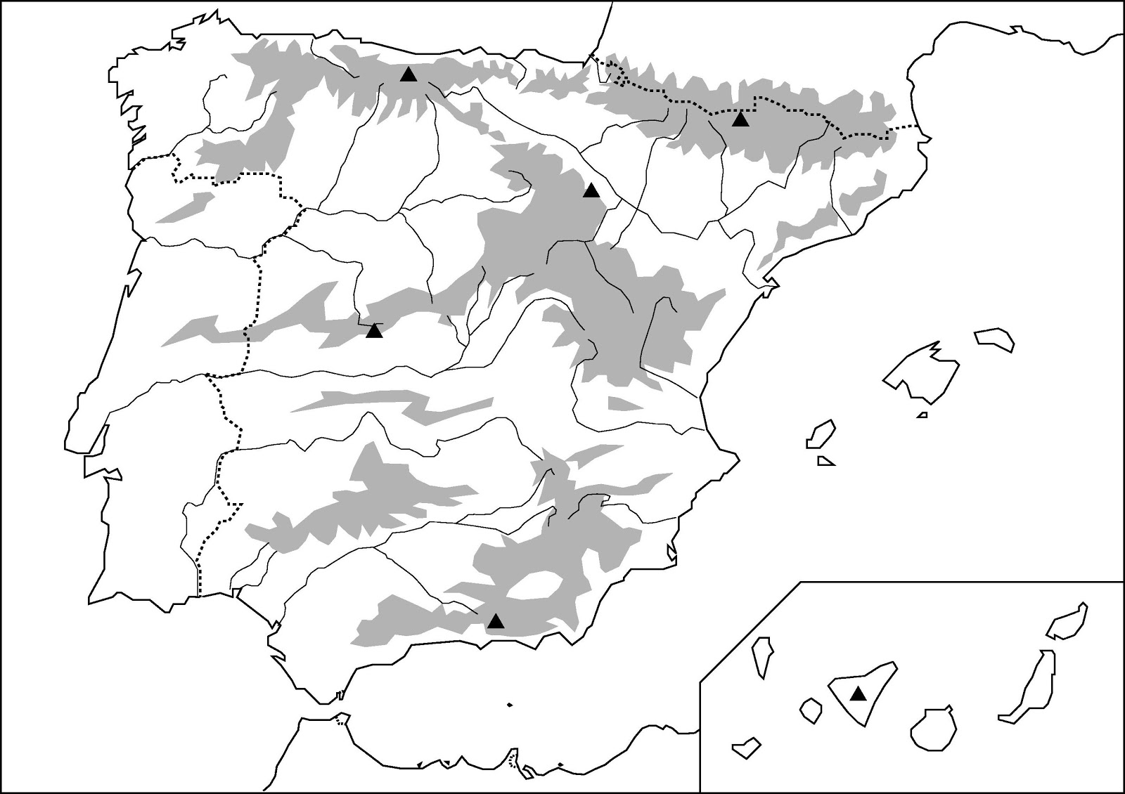 Mapa Mudo Politico De España Para Imprimir Tamaño Folio.Mapas De Espana Para Imprimir Laclasedeptdemontse