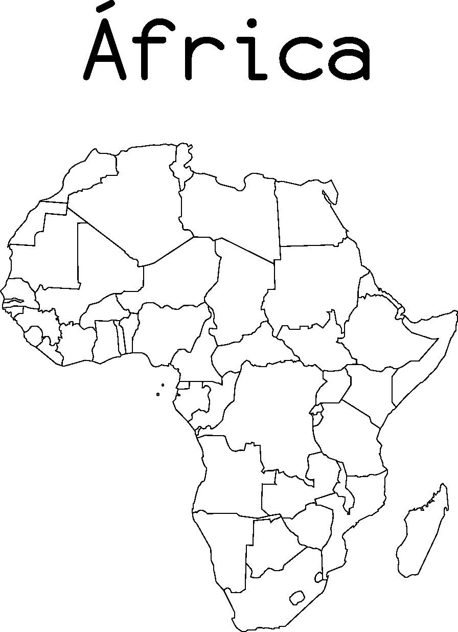 Mapas de África para imprimir | laclasedeptdemontse