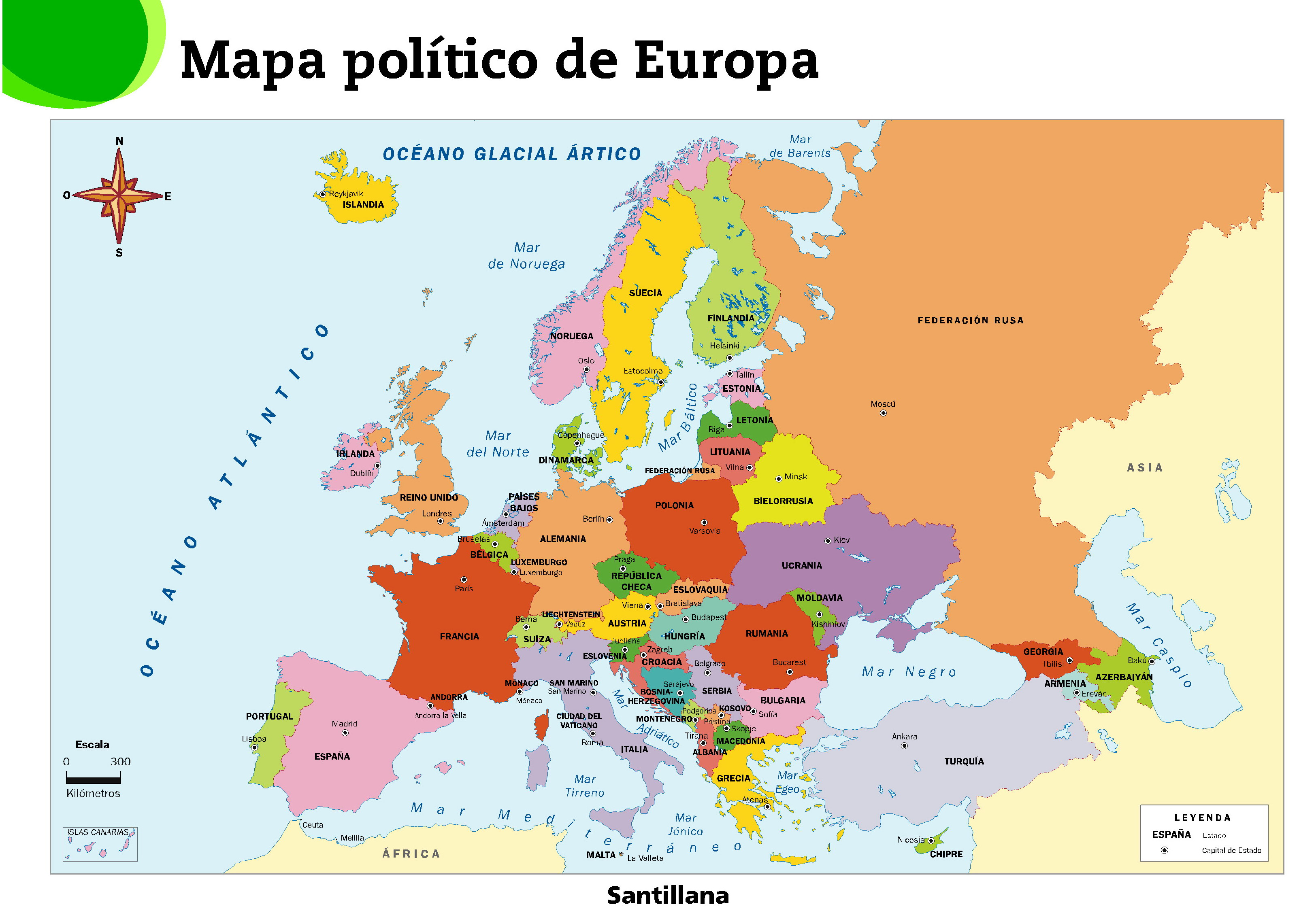 Mapas de Europa para imprimir
