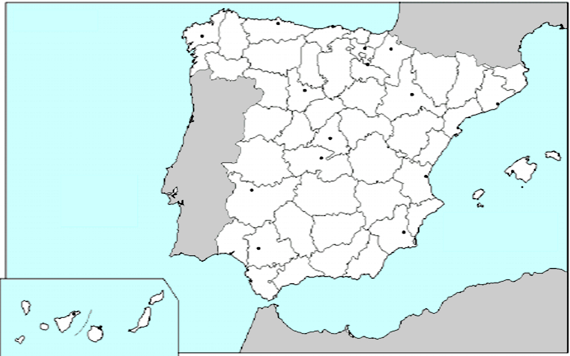 Mapas de Espaa para imprimir  laclasedeptdemontse
