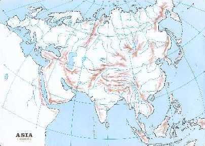 Mapa Mudo Asia Fisico.Mapa Fisico De Asia Mudo Para Imprimir Mapa