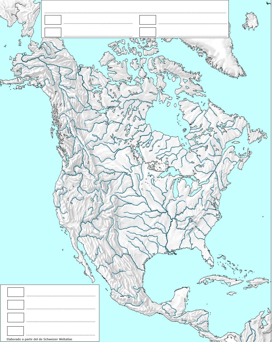 Mapas de América para imprimir | laclasedeptdemontse