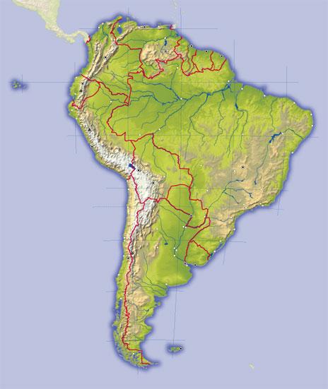 Mapas de am rica para imprimir laclasedeptdemontse for What color is south america