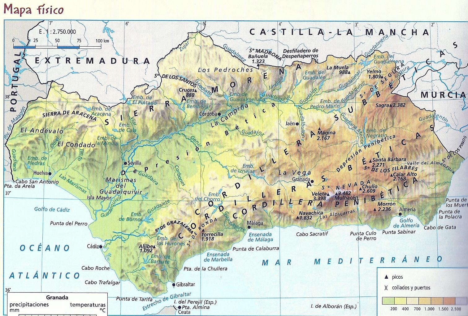 Mapas de Andalucia para imprimir  laclasedeptdemontse