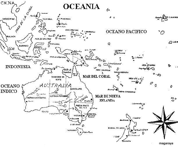 Mapas de Oceanía para imprimir | laclasedeptdemontse
