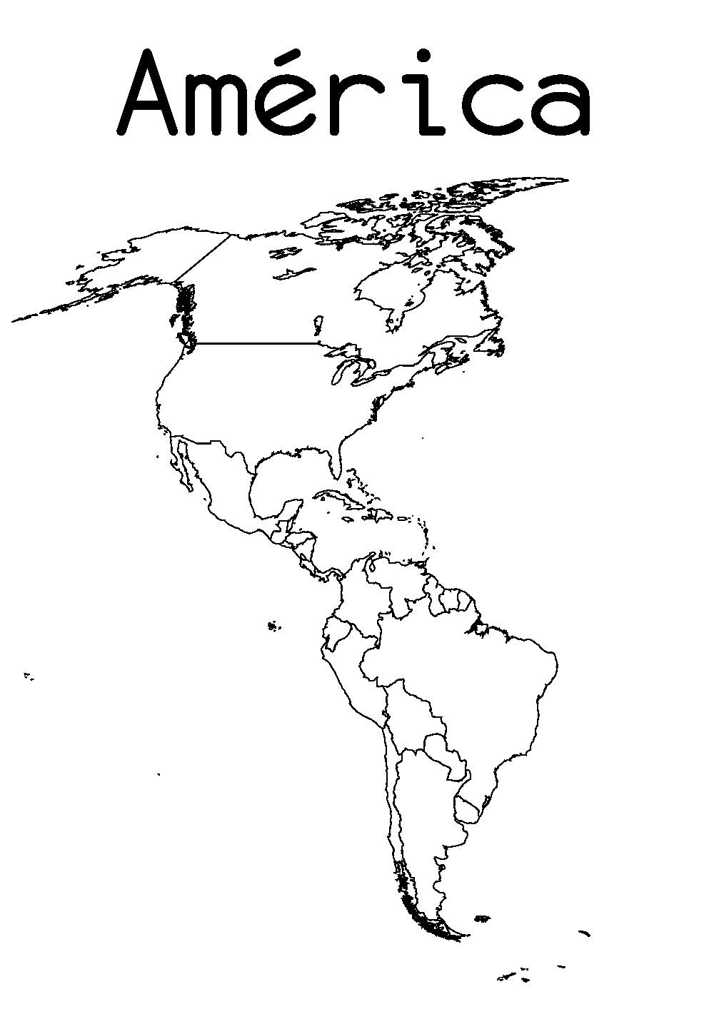 Mapas De América Para Imprimir Laclasedeptdemontse - America mapa juego