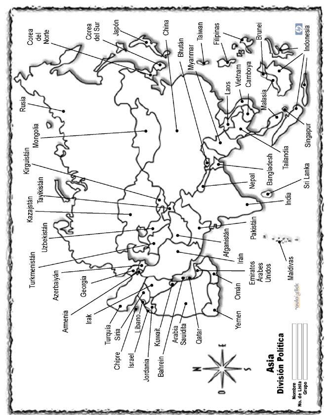 Mapas de Asia para imprimir  laclasedeptdemontse