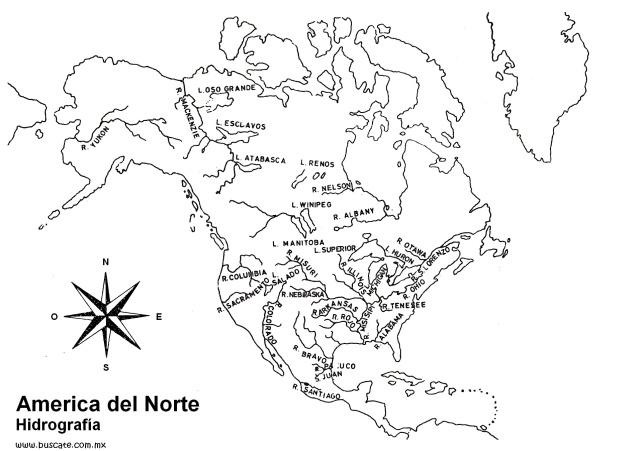Mapas America Norte Hidrografia Con Nombres 0001