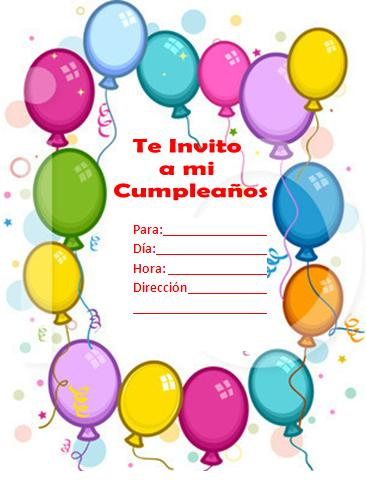 tarjetas de invitacion para cumpleaños - zrom.tk