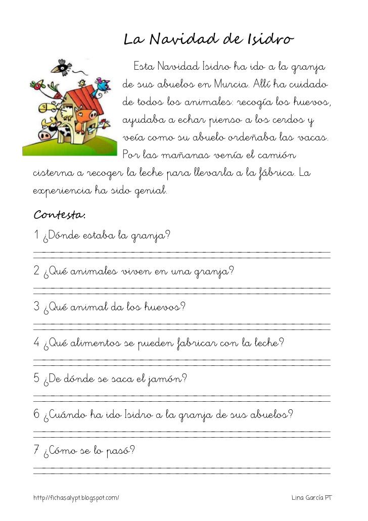 Lecturas comprensivas para 1º y 2º de primaria | laclasedeptdemontse