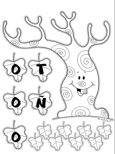 Dibujos Para Colorear Del Otoño Laclasedeptdemontse