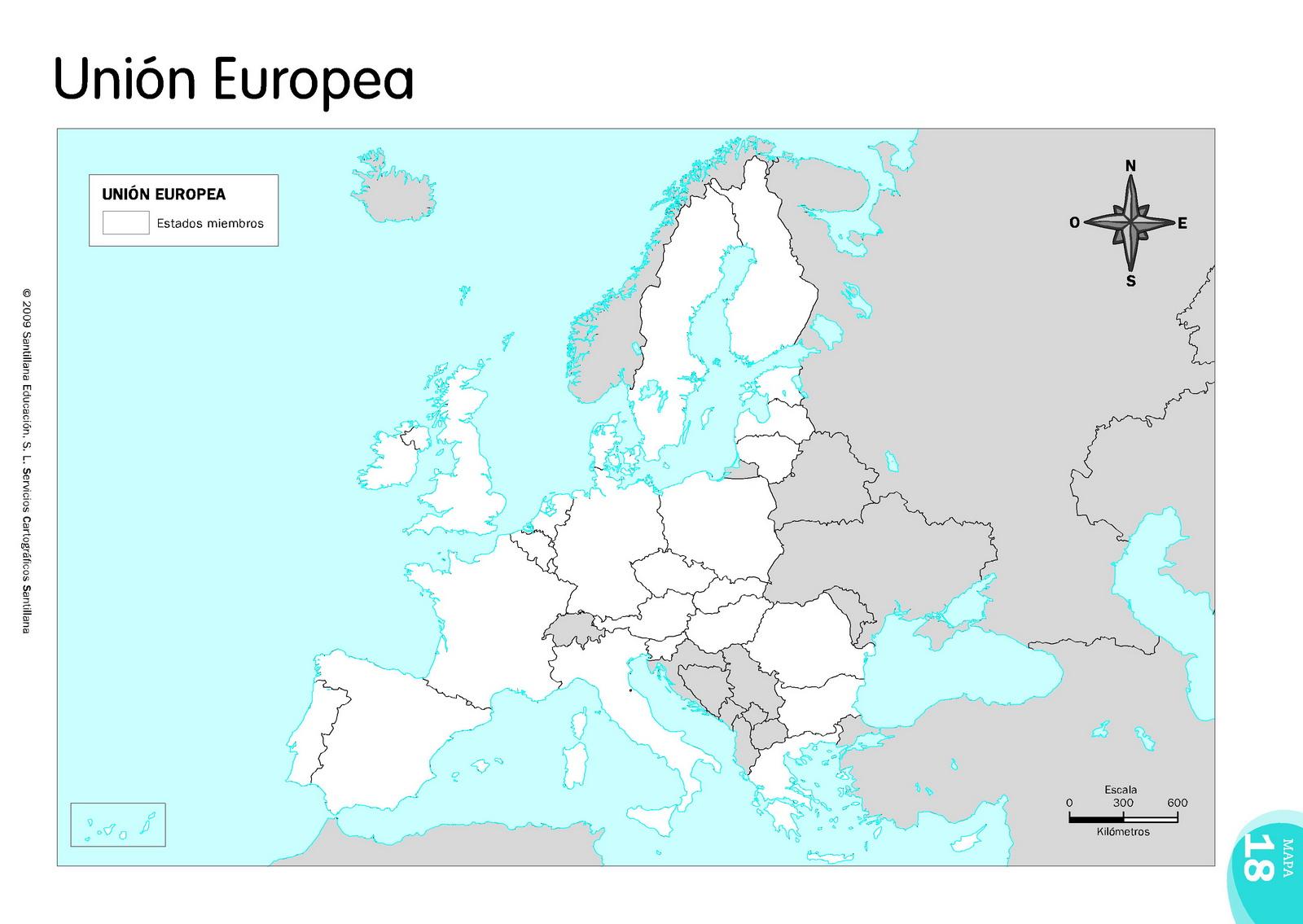 Mapa Politico Union Europea Mudo.La Union Europea Laclasedeptdemontse