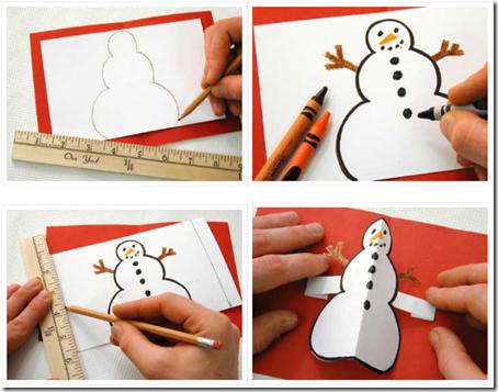 dibujos de postales de navidad para nios