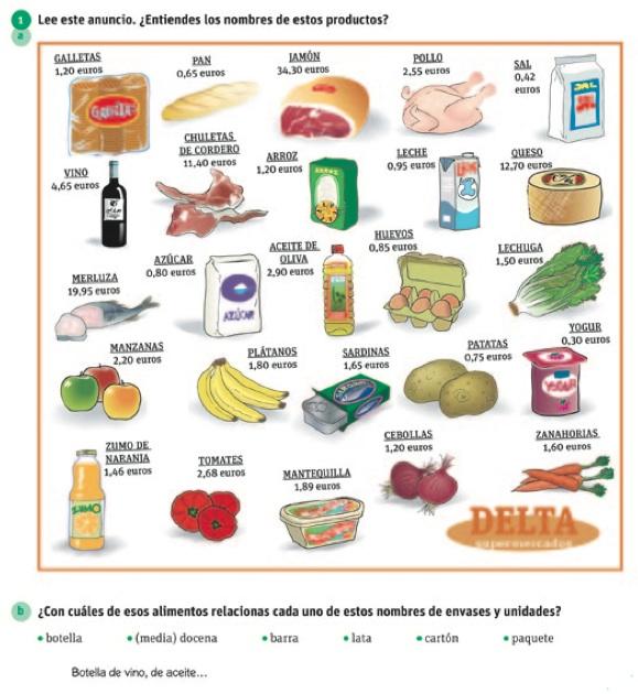 Las tiendas fichas para trabajar el tema for Precios de articulos de cocina
