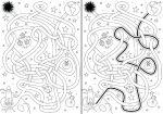 25519557-Laberinto-espacio-para-los-ni-os-con-una-soluci-n-en-blanco-y-negro-Foto-de-archivo
