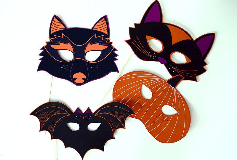 Manualidades para halloween laclasedeptdemontse - Coloriage masque halloween ...